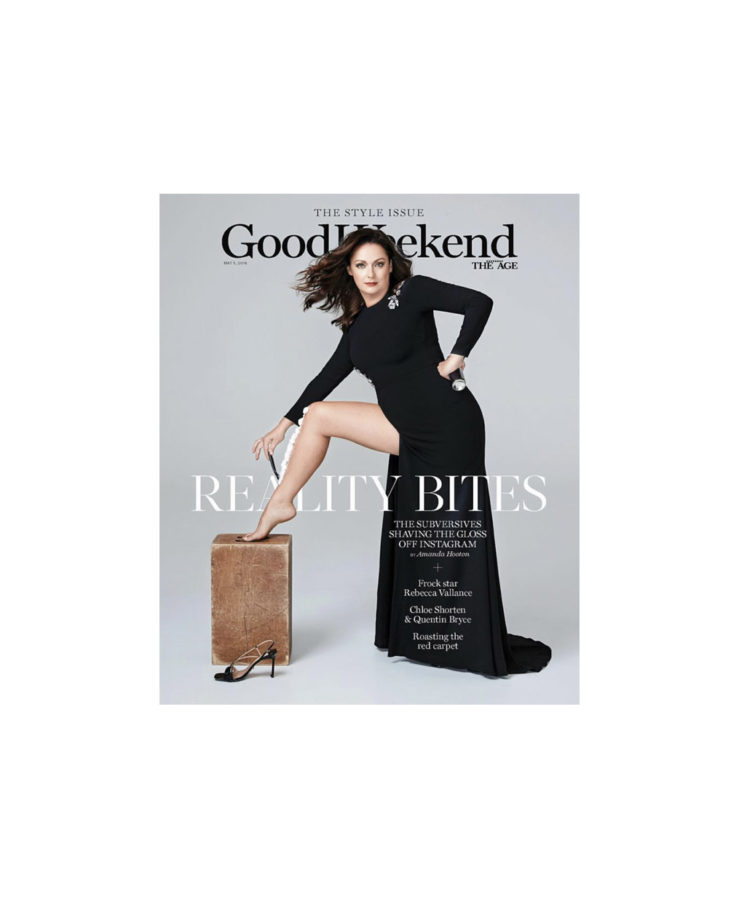 Picture of Celeste Barber for Good Weekend magazine cover