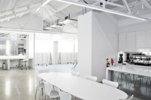 Daylight Studio for Hire in Sydney. Image of kitchen and dining area at Pix on Location
