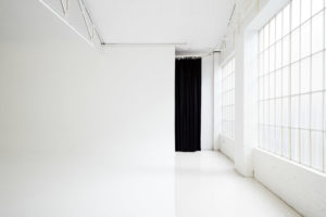 Daylight Studio for Hire in Sydney. Photo of the cyclorama and windows at Studio 6C